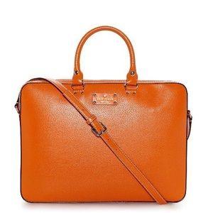 Kate Spade Wellesley Tanner Orange Laptop Bag